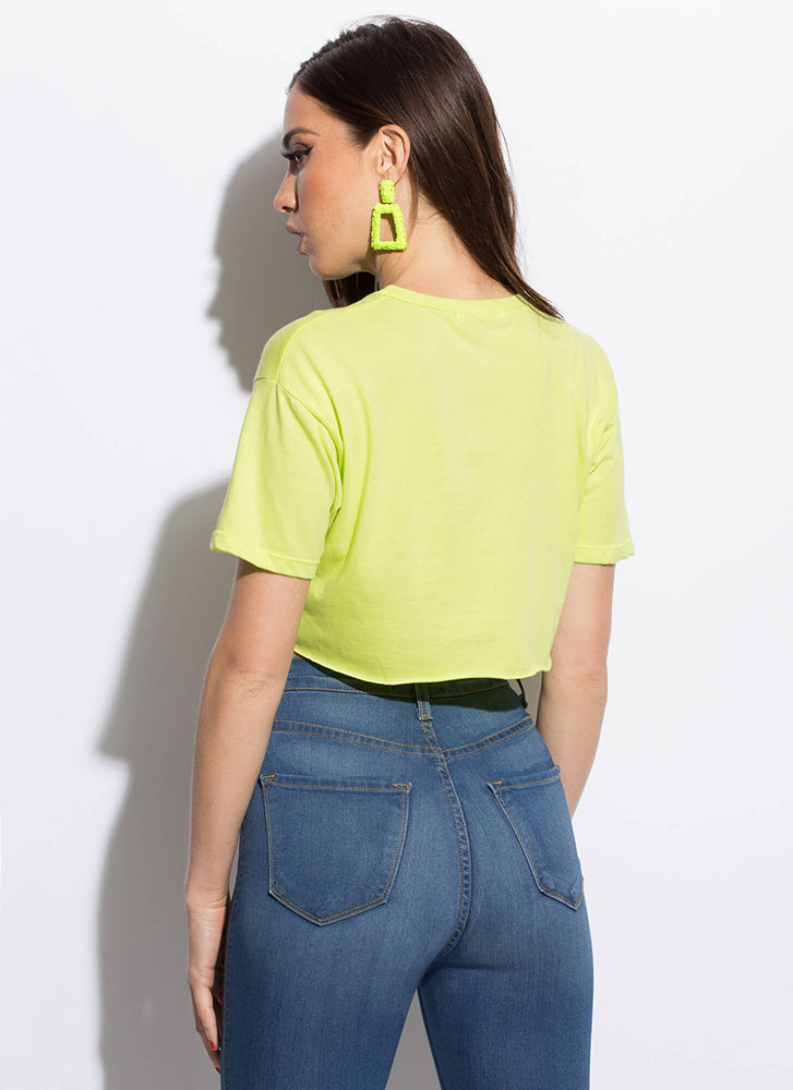 Player's Club Graphic Crop Top LIME