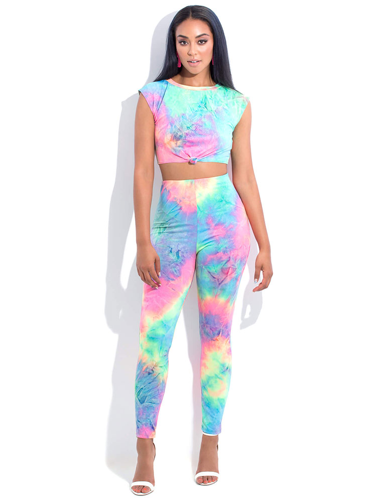 Tie-Dye Queen Top And Pant Set MULTI (You Saved $27)