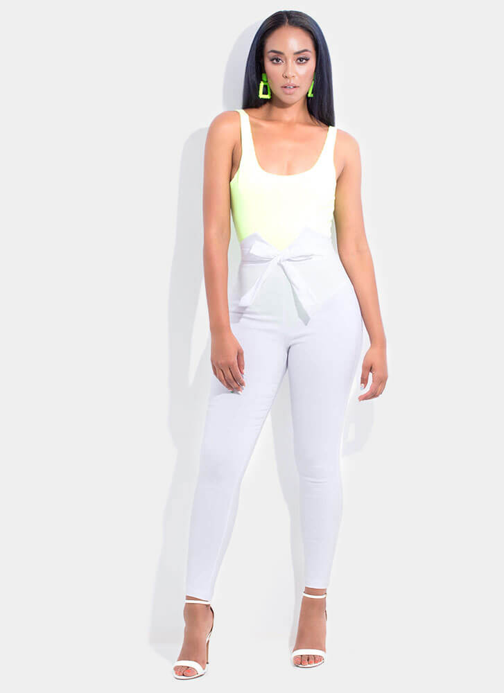 Glimmer Of Dope Textured Bodysuit NEONGREEN (You Saved $14)