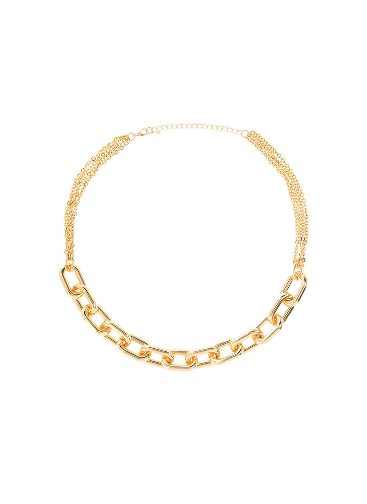 The Missing Link Chain Choker Necklace GOLD (You Saved $8)