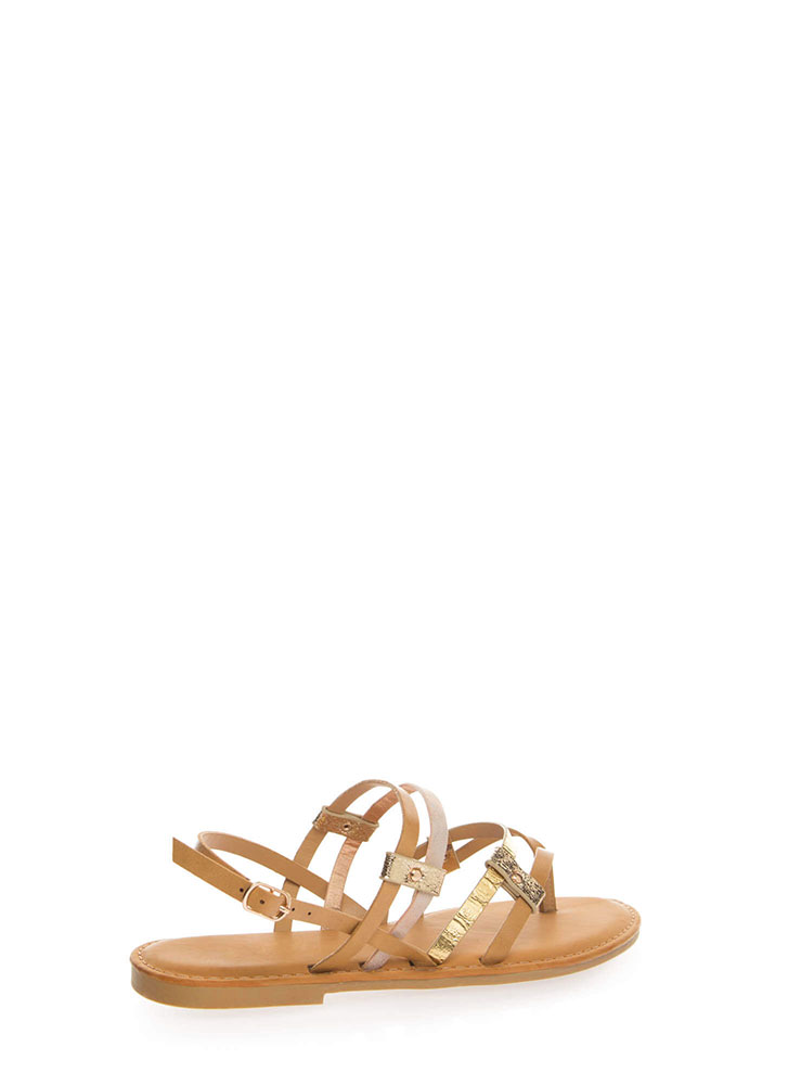 Happy To Be Strappy Thong Sandals NATURAL (You Saved $9)