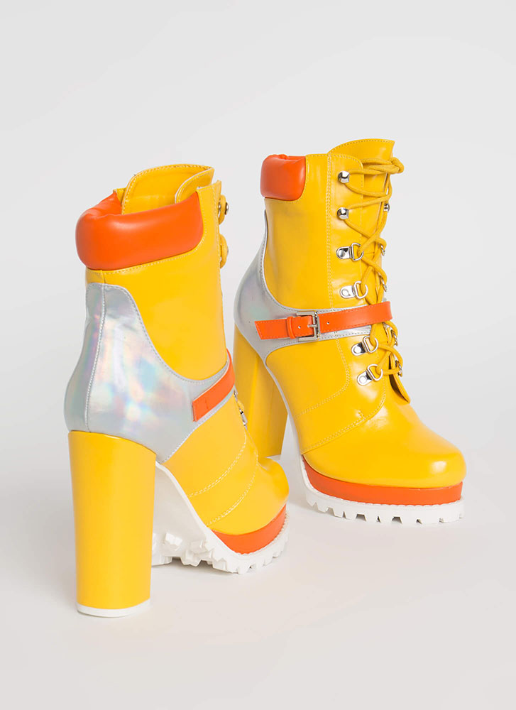 Higher Elevation Platform Lug Booties MULTI