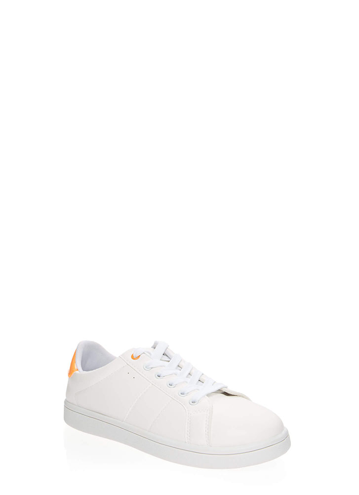 Sneaker Collector Sporty Tennis Shoes ORANGE (You Saved $11)