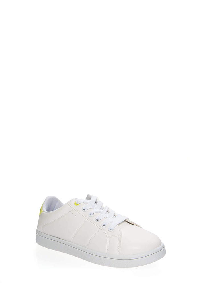 Sneaker Collector Sporty Tennis Shoes YELLOW (You Saved $11)