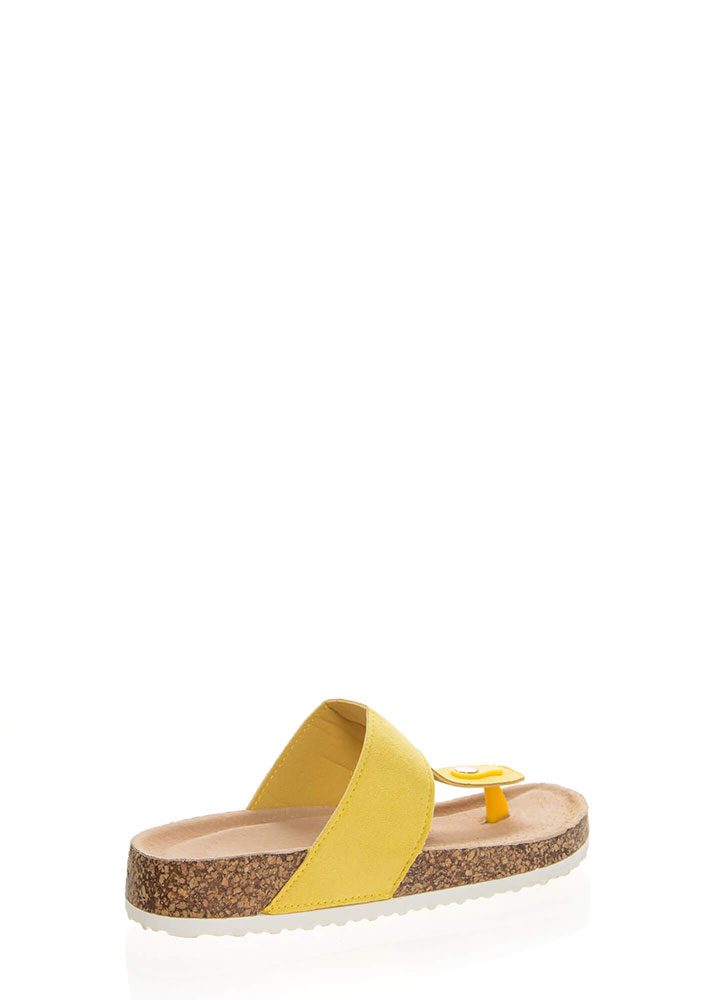 Time Out Platform Thong Sandals YELLOW