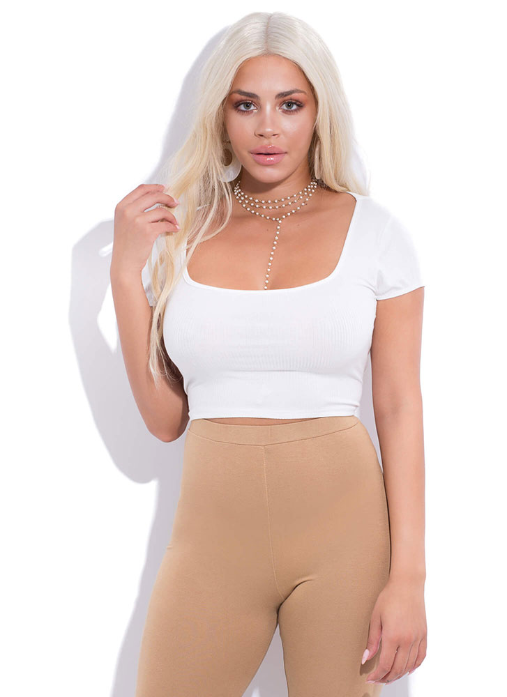 Turn Around Tied Open-Back Crop Top WHITE (You Saved $14)