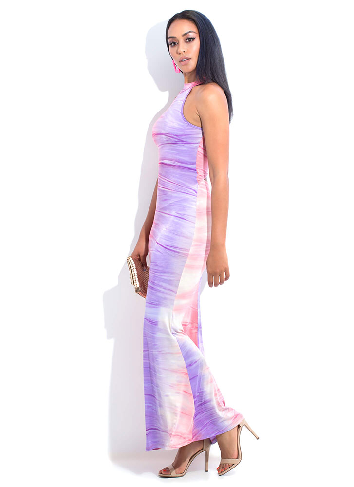 Floating On Water Ombre Maxi Dress MULTI (You Saved $25)