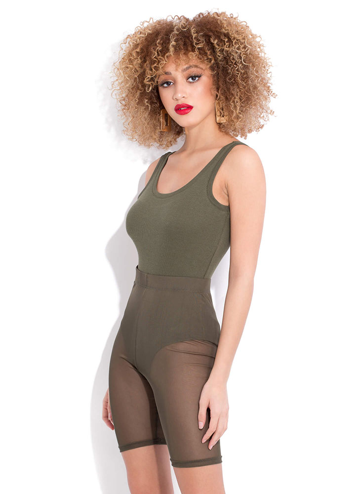 Tanks For Everything Rib Knit Bodysuit OLIVE (You Saved $6)