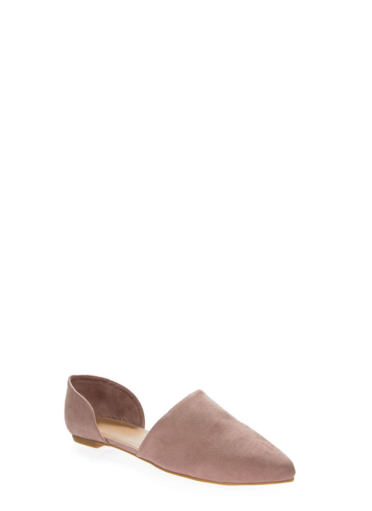 By Your Side Faux Suede D'Orsay Flats DKBLUSH