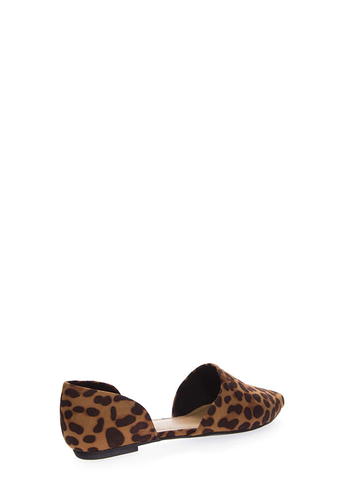 By Your Side Faux Suede D'Orsay Flats LEOPARD