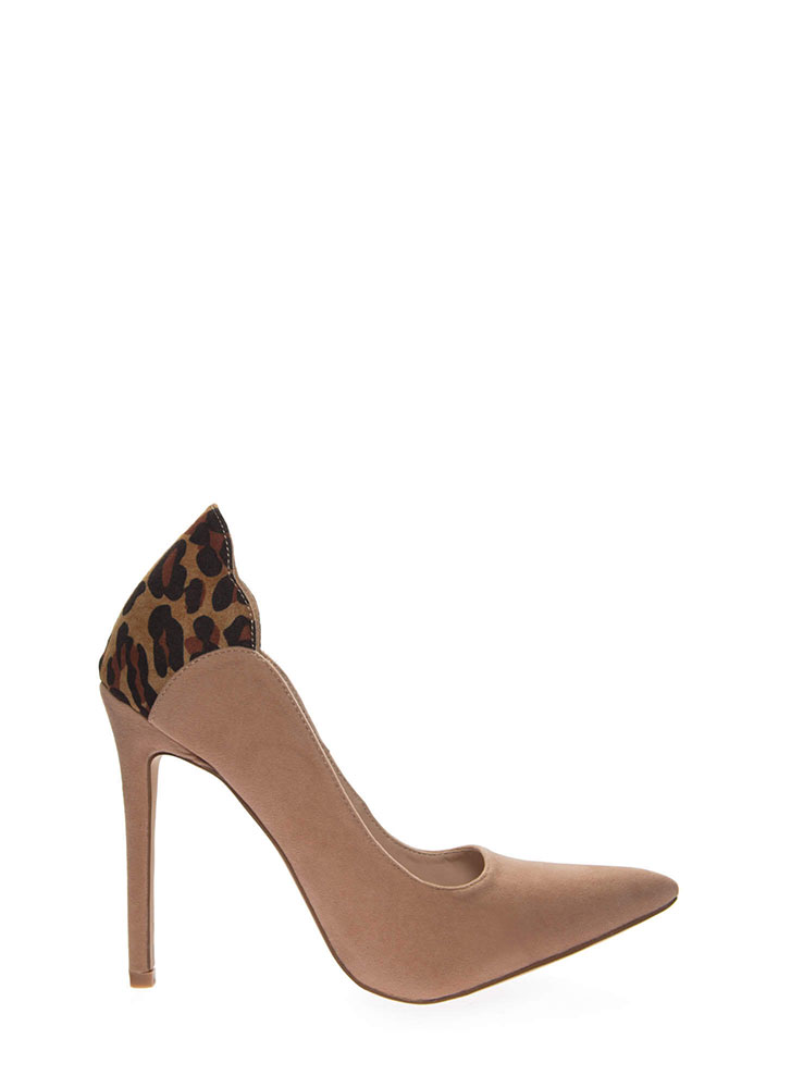 A Little Leopard Pointy Stiletto Pumps TAUPE (You Saved $23)