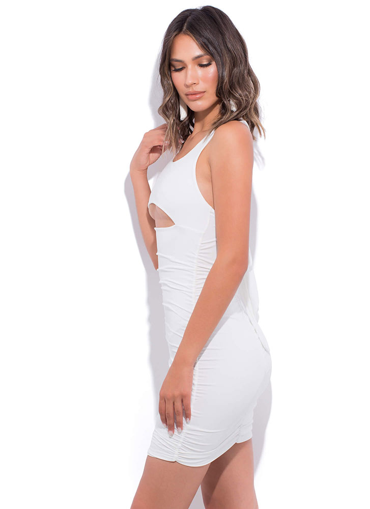 Bust A Move Cut-Out Open-Back Dress WHITE