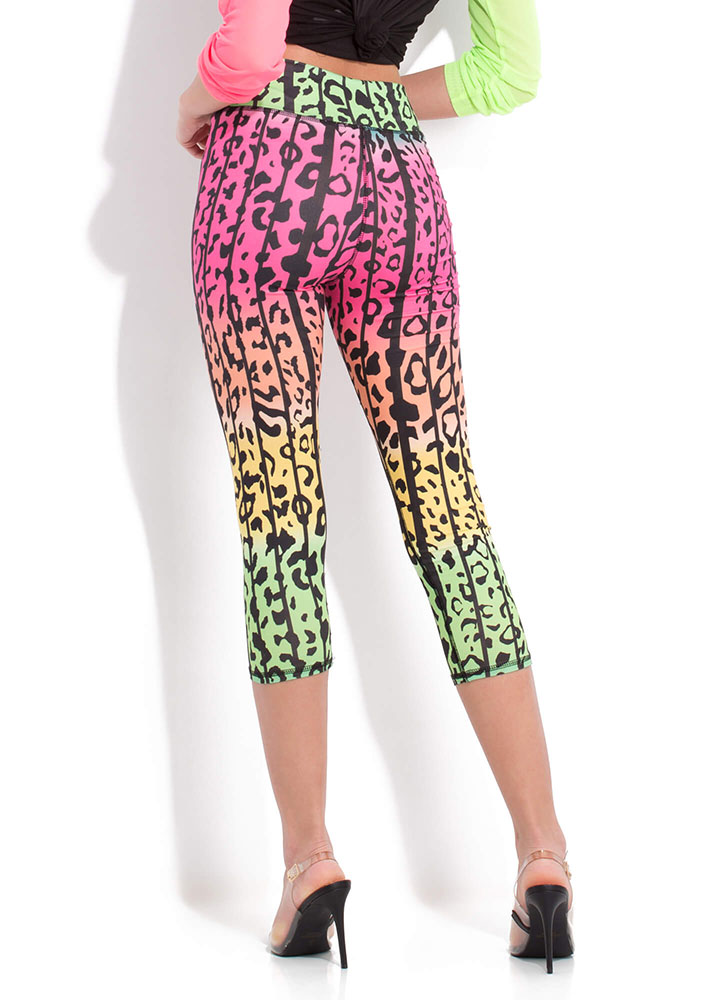 Wild About Cropped Leopard Leggings MULTI