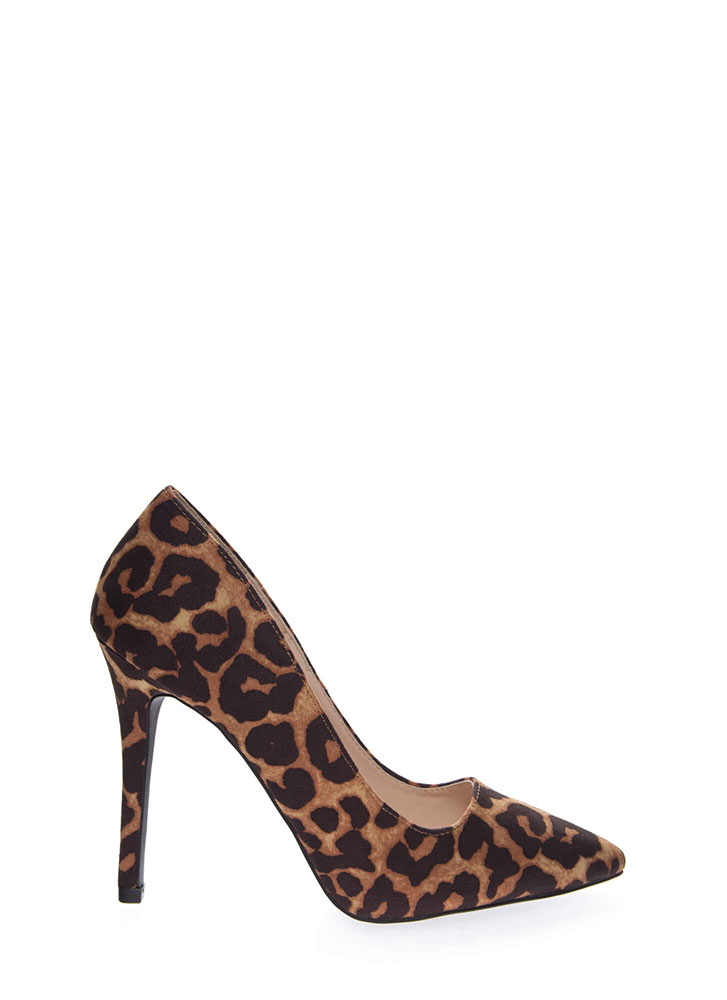All Signs Point To Leopard Print Pumps CAMEL