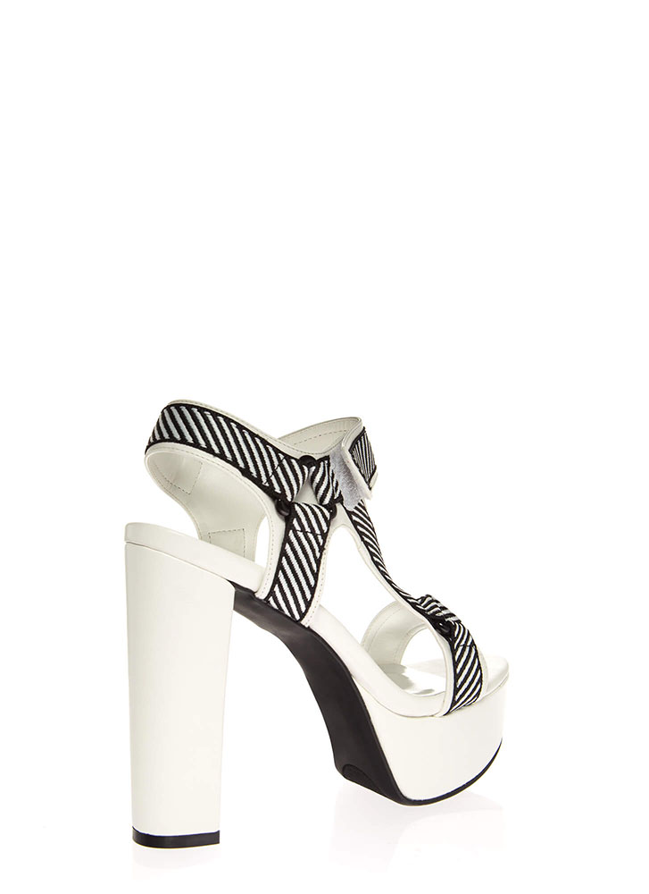 Strap Me In Chunky Harness Platforms WHITE
