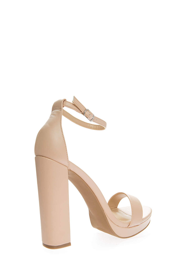 A Little Boost Chunky Platform Heels NUDE