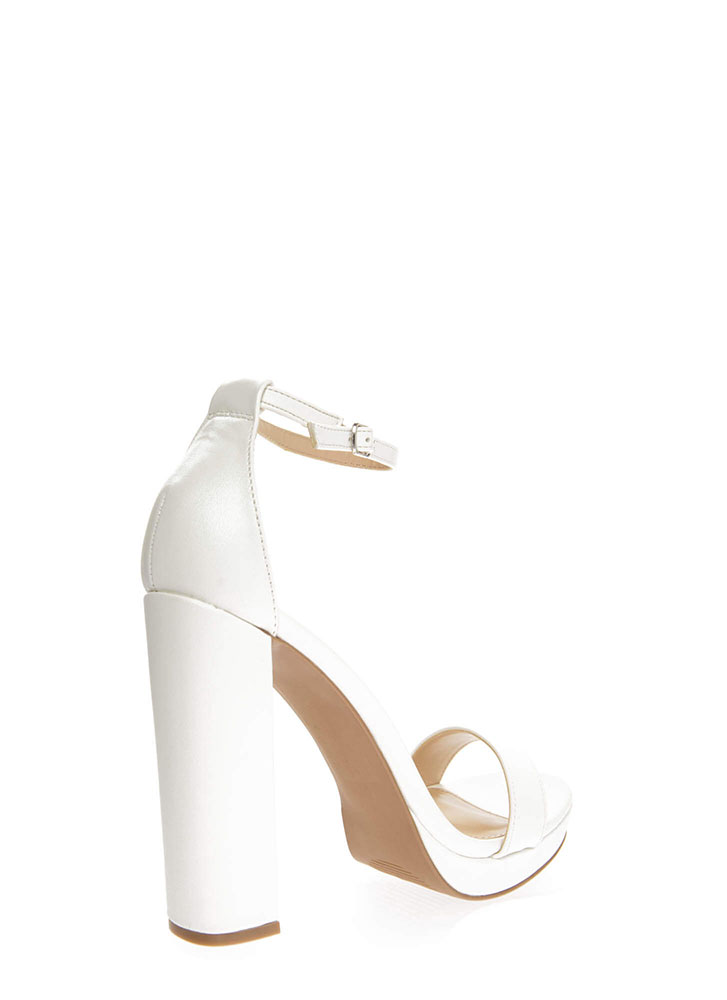 A Little Boost Chunky Platform Heels WHITE