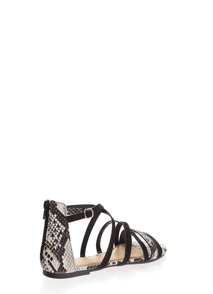 Your Animal Instincts Strappy Sandals BLACK