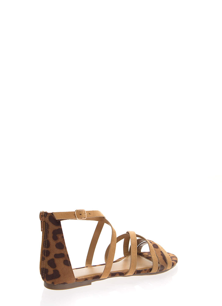 Your Animal Instincts Strappy Sandals TAN