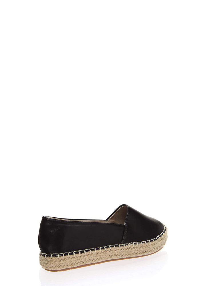 Step Up Braided Moccasin Flats BLACK