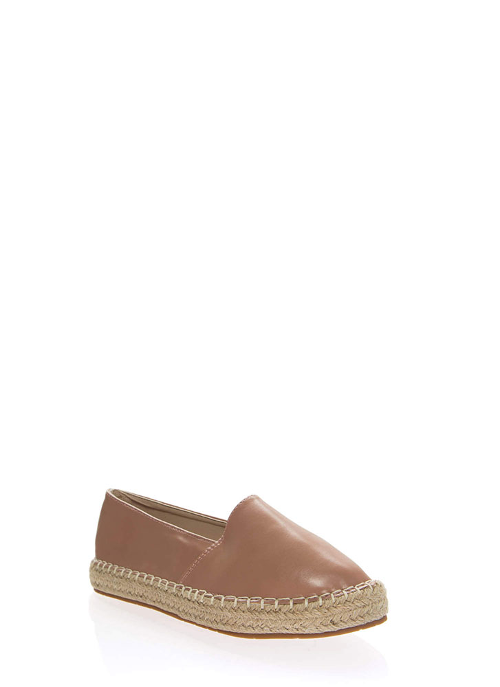 Step Up Braided Moccasin Flats PINK