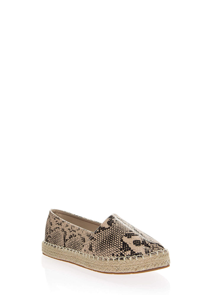 Step Up Braided Moccasin Flats SNAKE