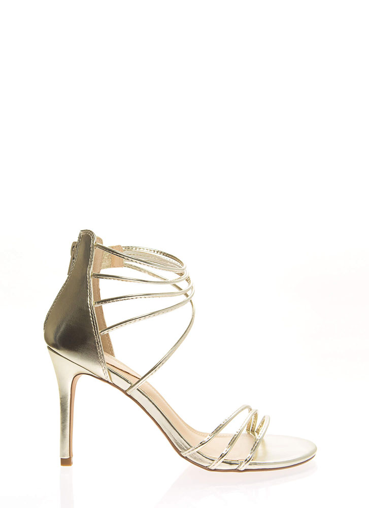 Sexy Strappy And Stiletto Heels LTGOLD