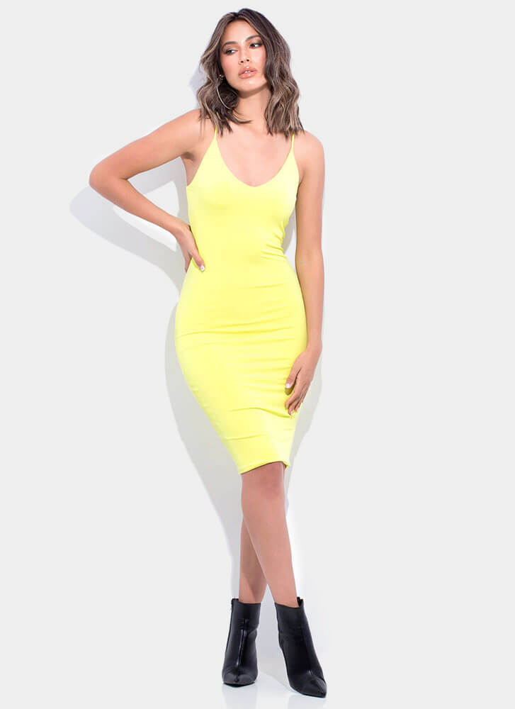 Ready For Anything Cami Midi Dress LIME