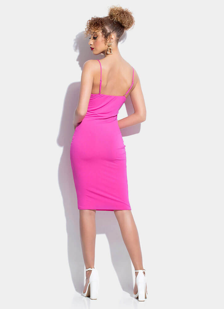 Ready For Anything Cami Midi Dress NEONPINK