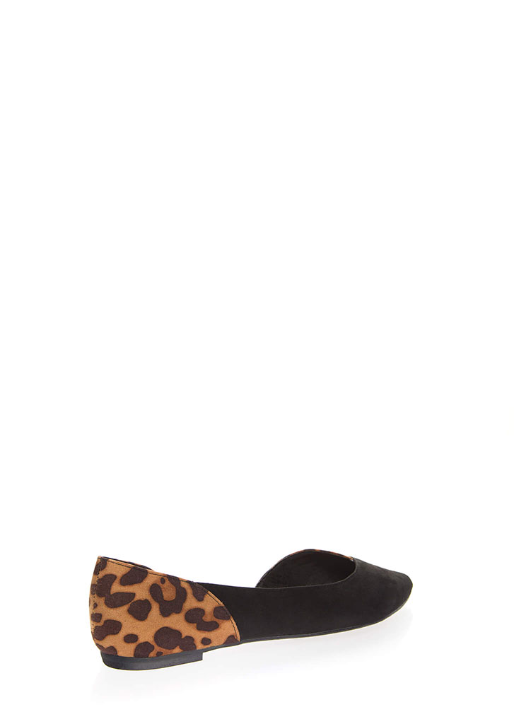 Wild Side Cut-Out Animal Flats BLACK