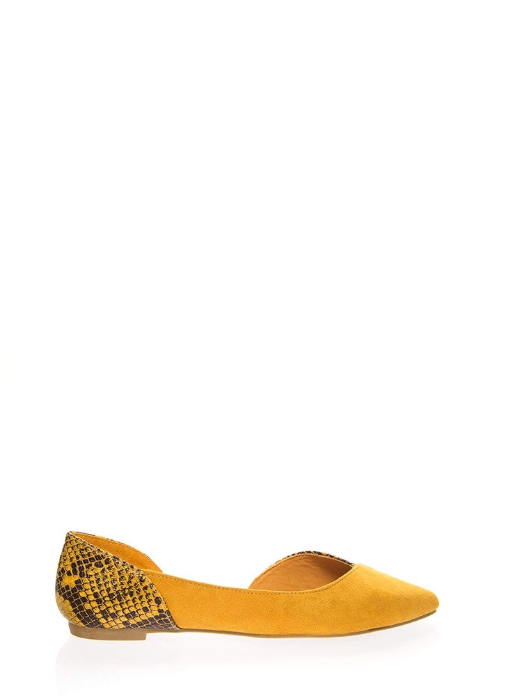 Wild Side Cut-Out Animal Flats MARIGOLD