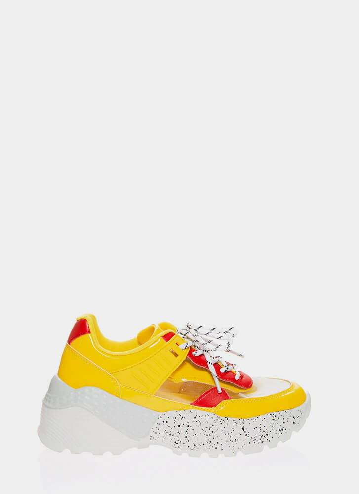 Clear Advantage Splatter Sneakers YELLOW