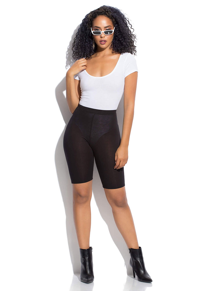 Give Me The Scoop Wide-Neck Bodysuit WHITE