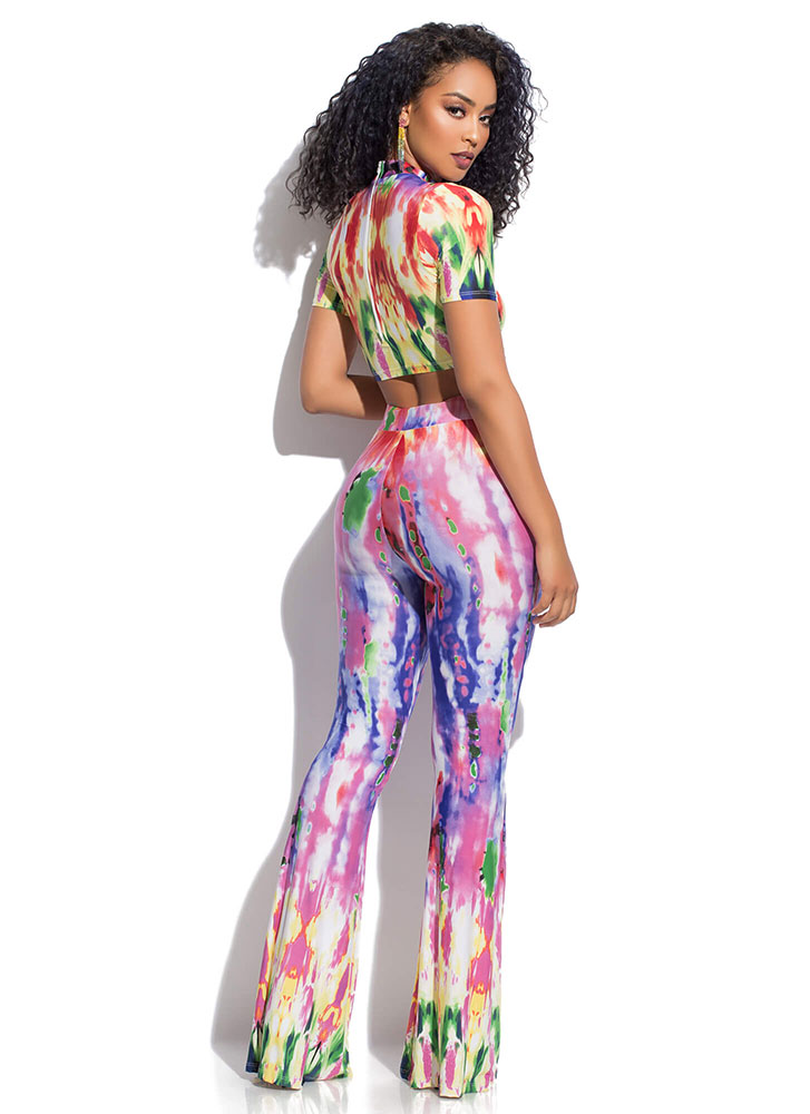 Kaleidoscope Tie-Dye 2-Piece Jumpsuit MULTI