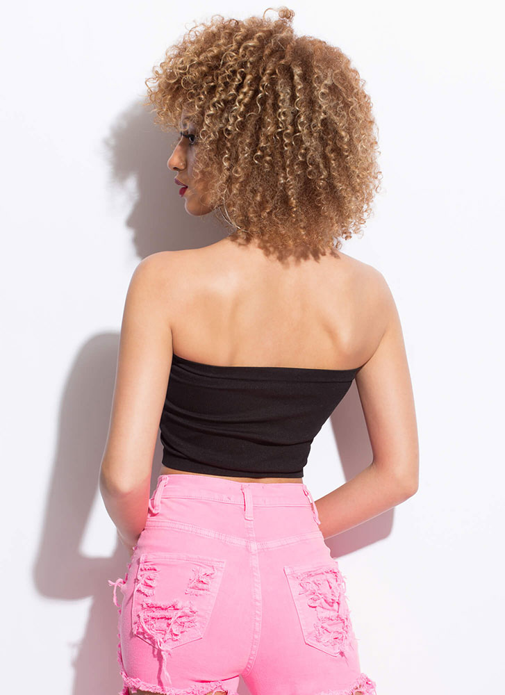 I'll Be There For You Basic Tube Top BLACK