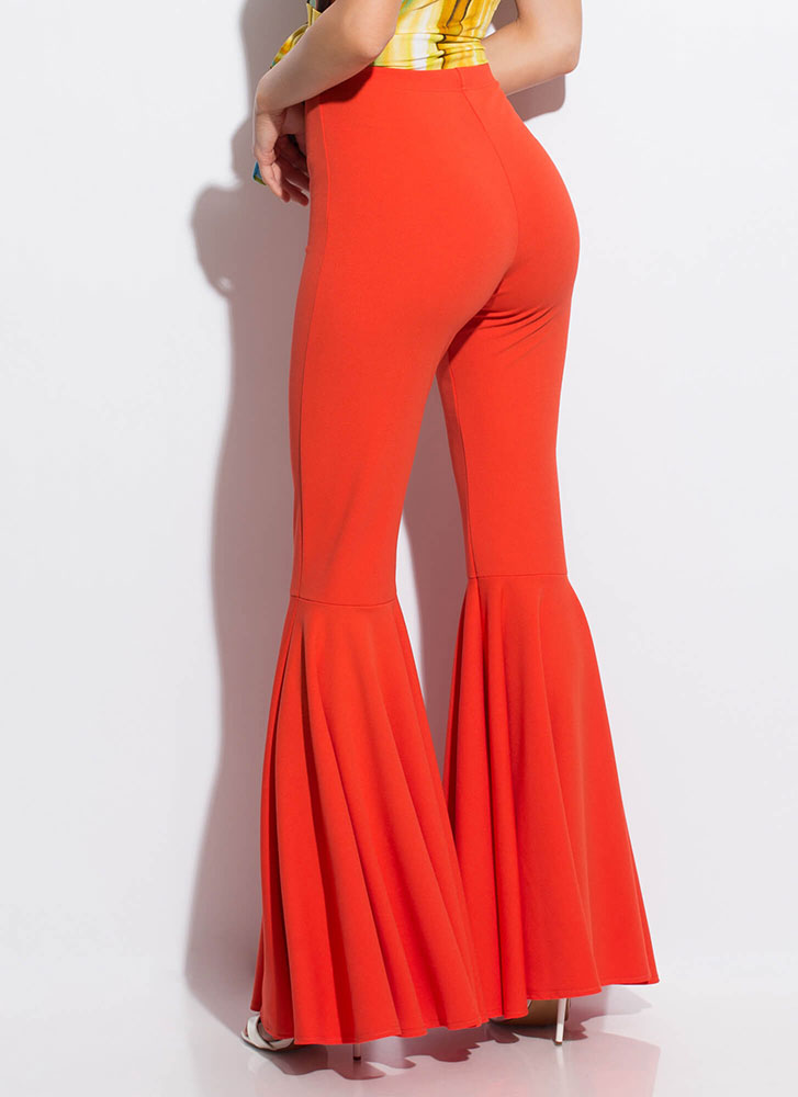 A Flare For Drama Bell-Bottom Pants ORANGE