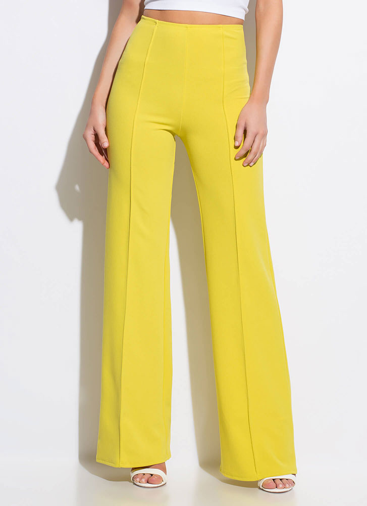 Stand Tall High Waisted Wide Leg Pants by Go Jane