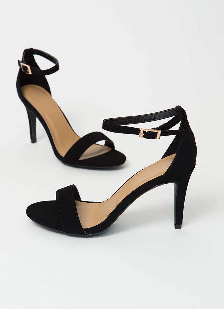 Everything I Want Ankle Strap Heels BLACK