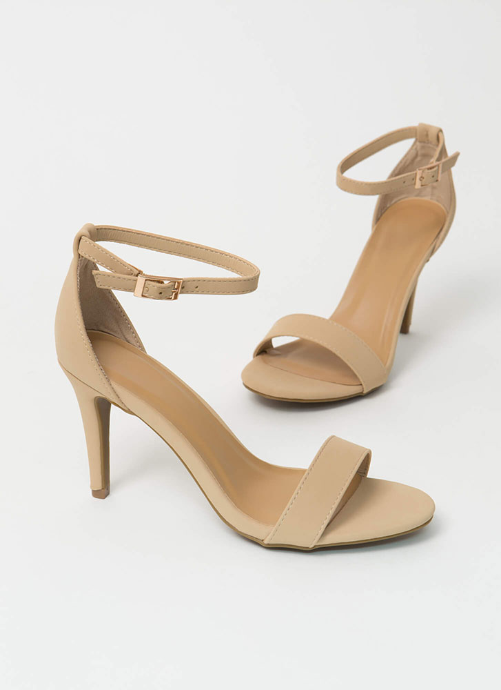 Everything I Want Ankle Strap Heels NUDE (Final Sale)