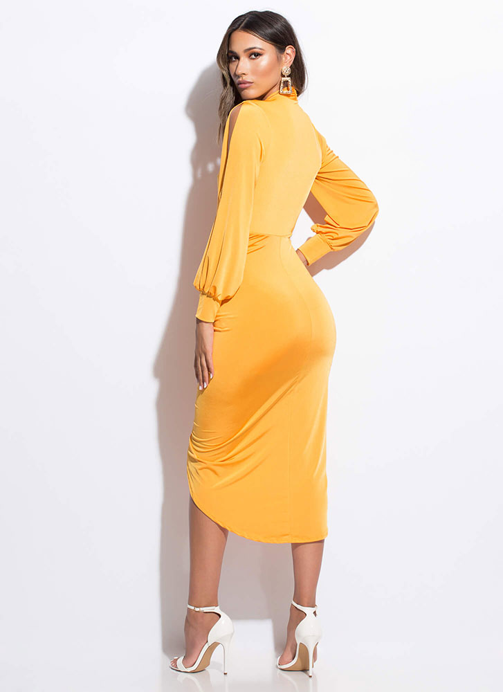 Slits About To Go Down Ruched Dress MANGO