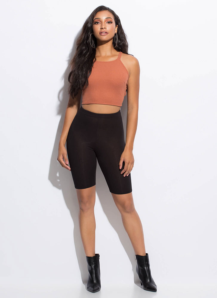 Whatever Makes You Strappy Tank Top TERRACOTTA