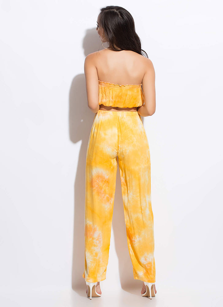 On Hiatus Tie-Dye Top And Pant Set YELLOWMULTI