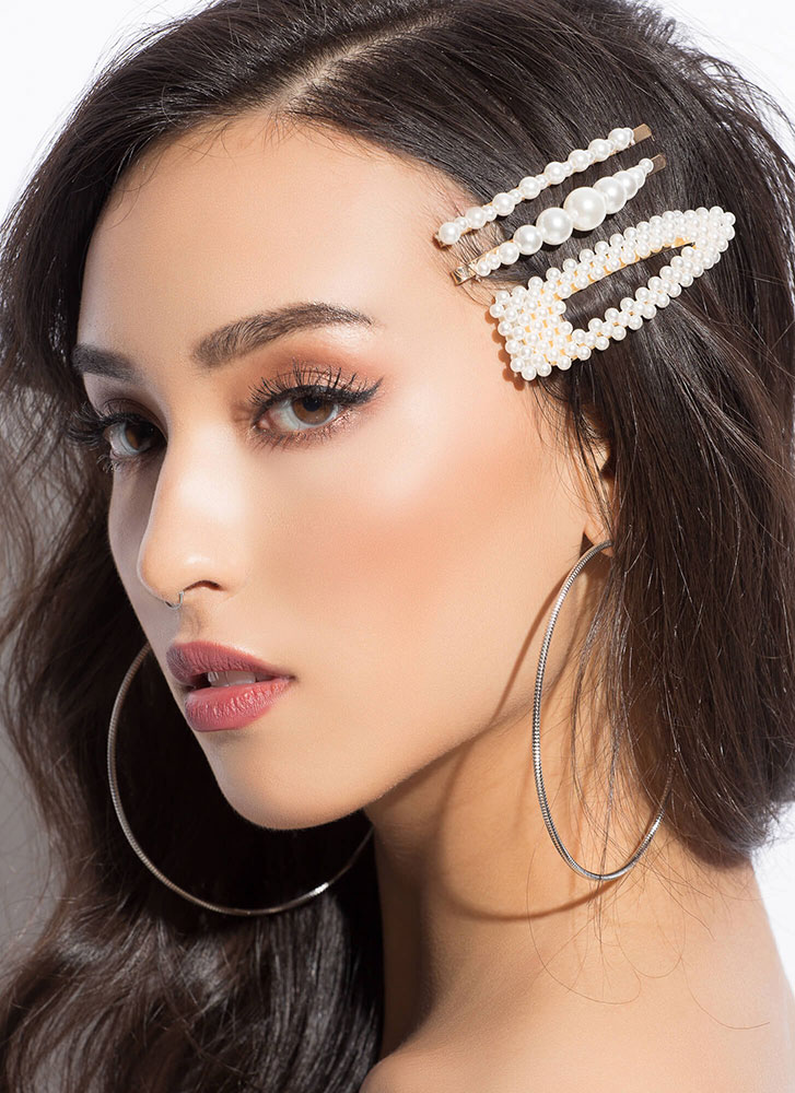 Girl With A Pearl Hair Clip Set PEARL