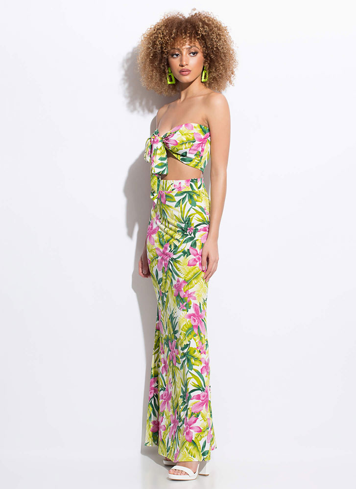 Exotic Flower Tropical 2-Piece Dress MULTI