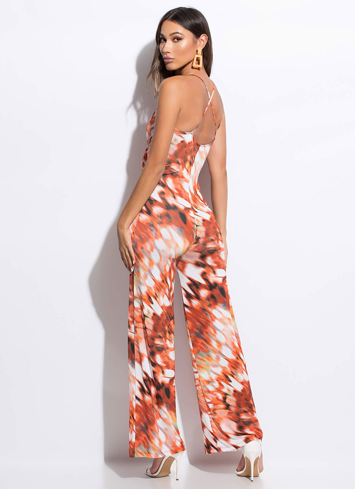Butterfly Effect Tied Palazzo Jumpsuit MULTI