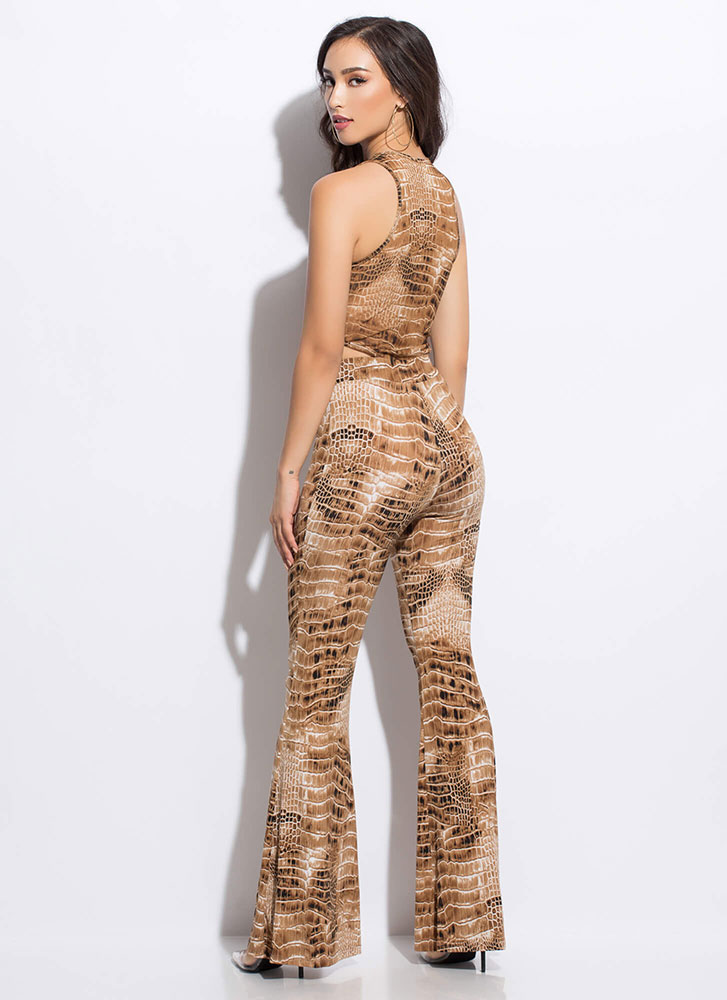 Cool-Blooded Reptile Bell-Bottom Set BROWN