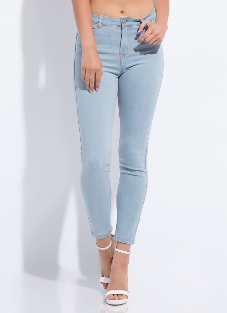 Essentially Yours Skinny Jeans LTBLUE
