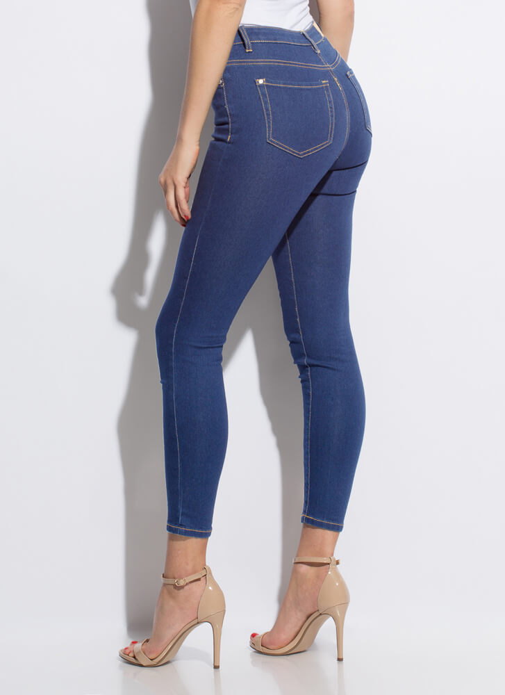 Essentially Yours Skinny Jeans MEDBLUE