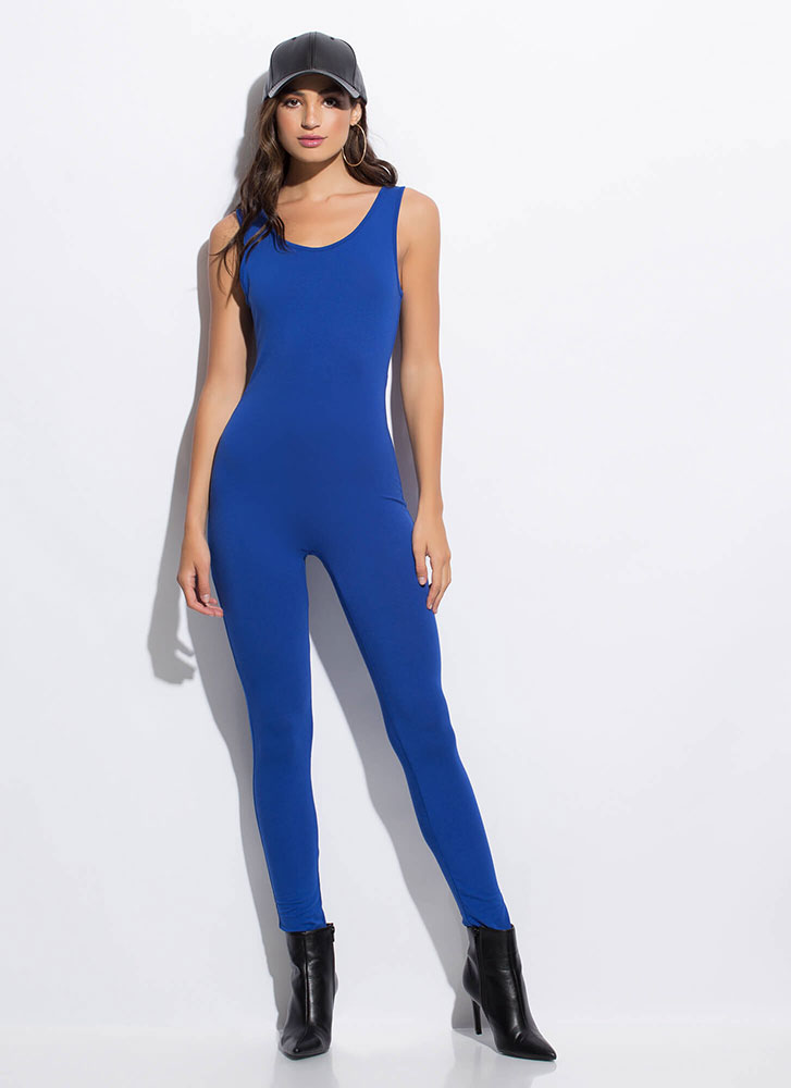 What You're Looking For Solid Jumpsuit ROYAL