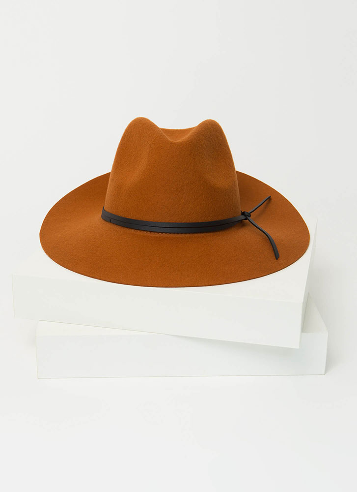 How The West Was Worn Tied Wool Fedora RUST